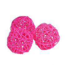 Dekorative kuler rosa Ø7cm 18stk