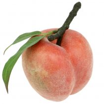 Dekorativ frukt ferskenrosa Ø8cm L10cm 4stk