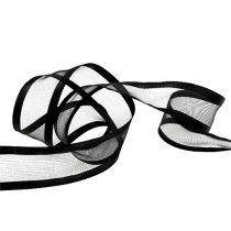 Dekorativt bånd svart 40mm 25m