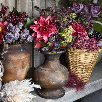 Kunstig dekorativ bukett med dahlia og bær syrin 45cm