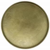 Dekorativ plate leire Ø30cm gull