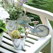 Dekorativ metallpotte, plantepotte med blomstermønster, metallkar for planting Ø20,5cm