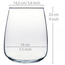 Dekorativ vase, blomstervase, glassvase Ø19cm H23cm
