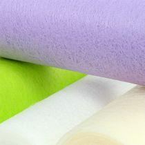 Dekorativ fleece bordløper 23cm farget 25m