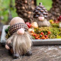 Dekorative gnome keramiske kjegler og eikenøtter Assortert H10,5 / 12cm 4stk
