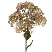 Dekorativ gren sedum lyserød 58cm