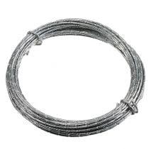 Diamant aluminiumtråd sølv 2mm 10m