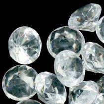 Dekorative steiner diamantklar Ø2,8cm 150g borddekorasjon