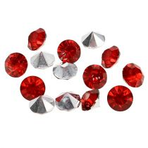 Akryldiamanter 8mm rød 50g