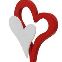 Dekorasjonsplugg dobbelt hjerte 28cm 18stk