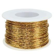 Ledning innpakket i gull Ø2mm 100m