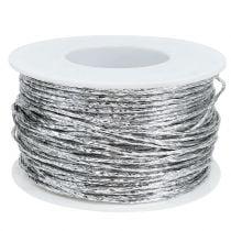 Tråd innpakket i sølv Ø2mm 100m