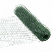 Sekskantet grønn tråd PVC-belagt trådnett 50cm × 10m