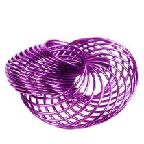 Trådhjul lavendel Ø4,5cm 6stk