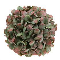 Echeveria ball kunstgrønn, rød Ø22cm