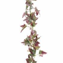 Ivy kransgrønn, burgunder 182,5 cm
