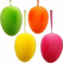 Påskeegg for å henge fargerike, flokkede egg, påske, vårdekorasjon 8stk