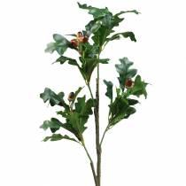 Eikebladgrein med eikenøtter kunstig 90cm