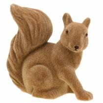 Dekorativ ekorn strømmet brun H20cm 2stk