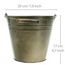 Metallgryte, bøtte for planting, planter Ø20cm H17cm