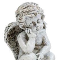 Engel sitter grå 11cm 4stk