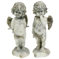 Dekorativ engel Amor med hjerte 25cm 2stk