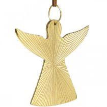 Dekorativ engel, metall anheng, julepynt gyllen 9 × 10cm 3 stk