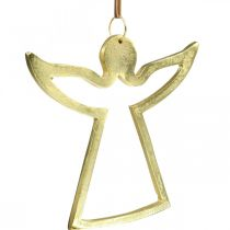 Metallheng, dekorative engler, gylden adventsdekorasjon 15 × 16,5 cm