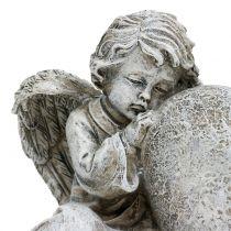 Engel med hjertegrå 11,5cm × 9cm × 6,5cm 2stk