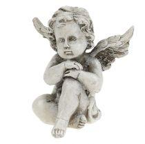 Engelfigurer grå 9cm 3stk