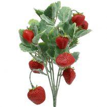 Kunstig jordbærplukk rød L30cm