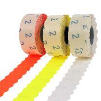 Etiketter 26x12mm forskjellige farger 3 ruller