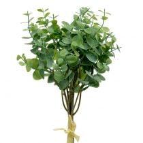 Eucalyptus gren kunstig grønn 37cm 6stk