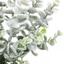 Kunstig eukalyptus gren dekket med snø Deco gren eukalyptus jul 48cm