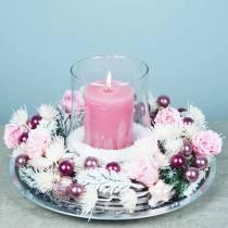 Evige roser medium Ø4-4,5cm rosa 8stk