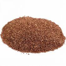 Farget sand kobber dekorativ sandbrun Ø0,5mm 2kg