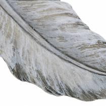 Gravdekorasjonsfjær 18cm x 6,5cm 4stk