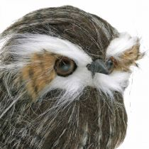Ugle til pynt, høst, dekorativ fugl, skogdekorasjon H21cm