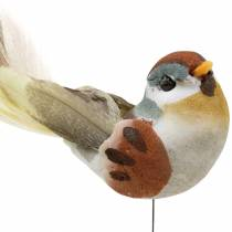 Bird on wire 5,5 cm farget 9stk