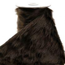 Dekorativt pelsbånd mørkebrunt 16x200cm