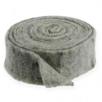 Filtbånd grå 7,5 cm 5m