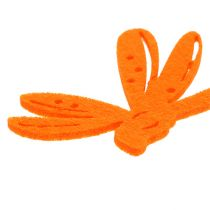 Følt dryss dekorasjon oransje 24stk