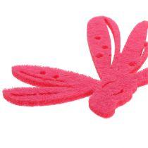 Følt dryss dekorasjon rosa 24stk