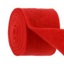 Filtbånd 15cm x 5m rødt