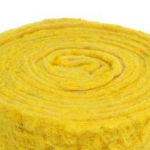 """Filtbånd """"Happy"""" gul 7,5cm 5m"""