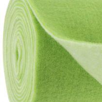 Filtbånd 15cm x 5m tofarget grønt, hvitt