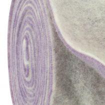 Filttape 15cm x 5m tofarget lys lilla, hvit
