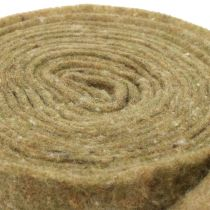 Potthengsel filtbånd grønt med prikker 15cm x 5m