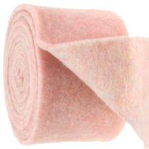 Filtbånd, grytebånd tofarget hvit / rosa 15cm 5m