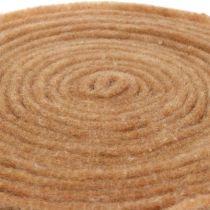 Filtbånd naturlig 15cm 5m